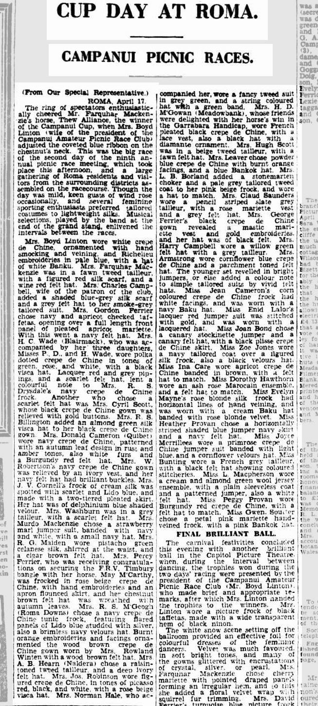 The Brisbane Courier. April 18, 1929. Image courtesy Trove